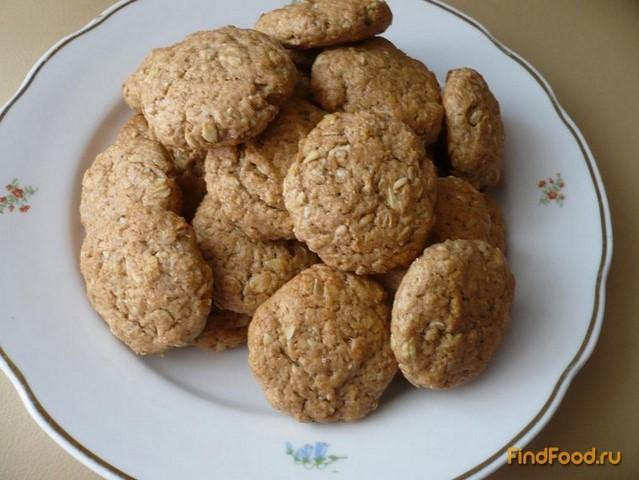 Рецепт Овсяно-ржаное печенье с бананом рецепт с фото