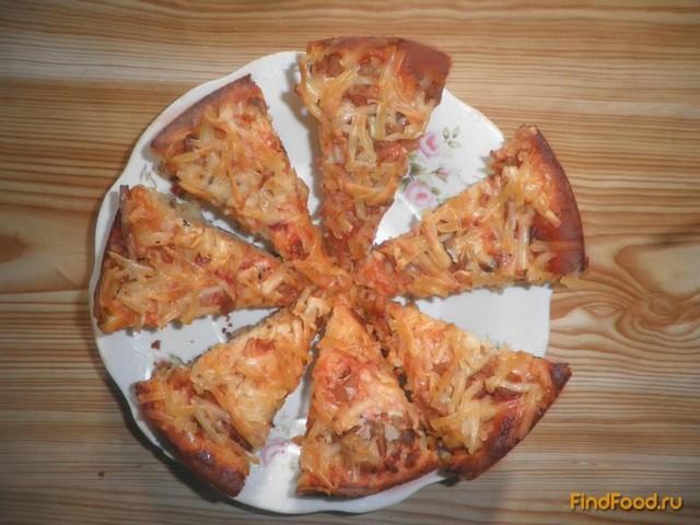 Рецепт Пицца на дрожжевом тесте с вешенкой рецепт с фото