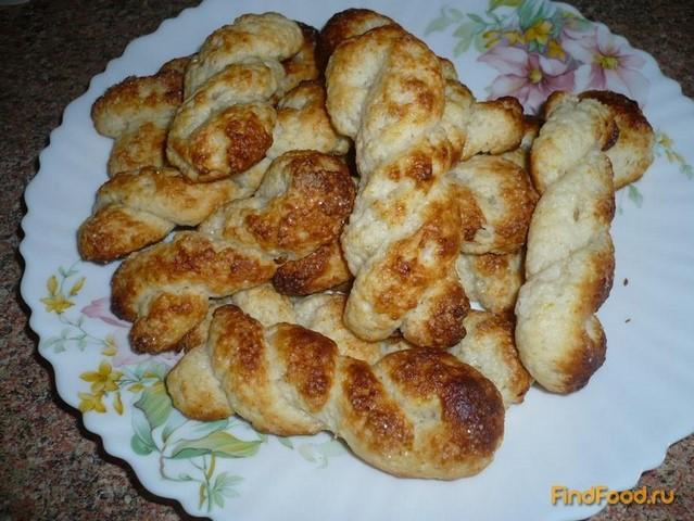 Рецепт Творожное печенье косичка рецепт с фото