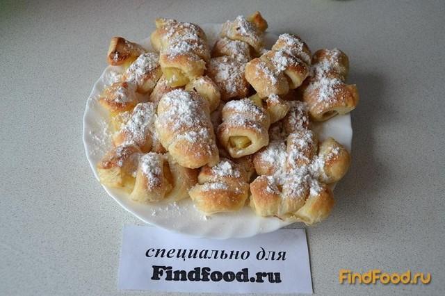 Рецепт Слойки с консервированным ананасом рецепт с фото