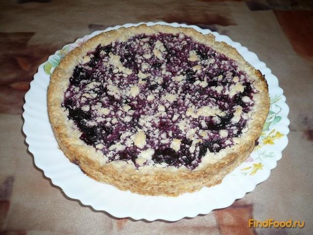 Рецепт Постный песочный пирог с ягодой рецепт с фото
