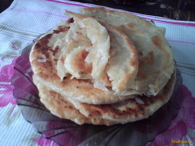 Рецепт Слоеные лепешки с луком - каттама рецепт с фото