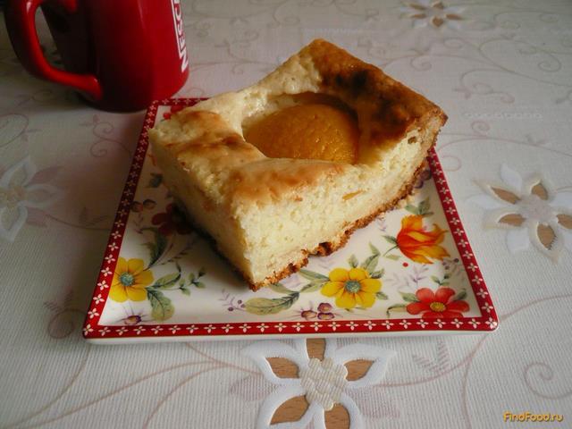 Рецепт Манник с персиками рецепт с фото