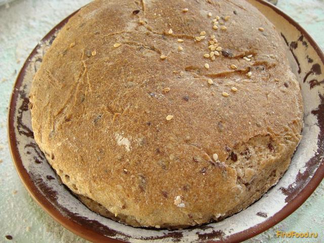 Рецепт Бездрожжевой пшенично-ржаной хлеб с семенем льна рецепт с фото