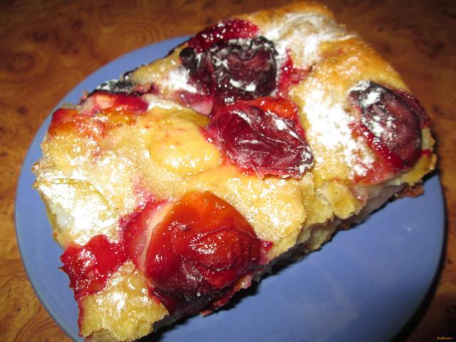 Рецепт Пирог с яблоками и сливами рецепт с фото