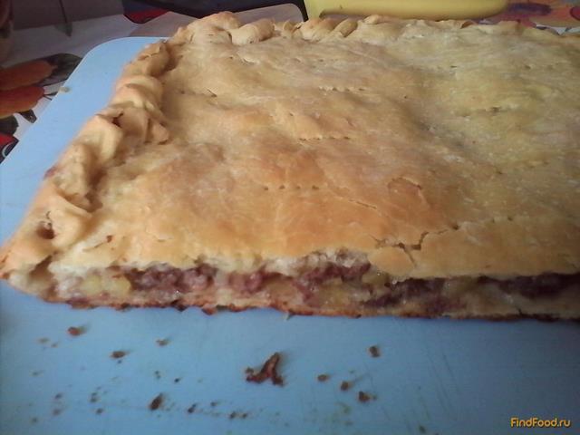 Рецепт Пирог с мясом и картофелем рецепт с фото