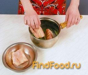Пирог с осетриной рецепт с фото 2-го шага