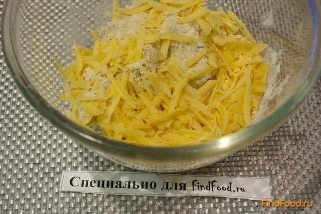 Крекер сырный с семенами льна рецепт с фото 3-го шага