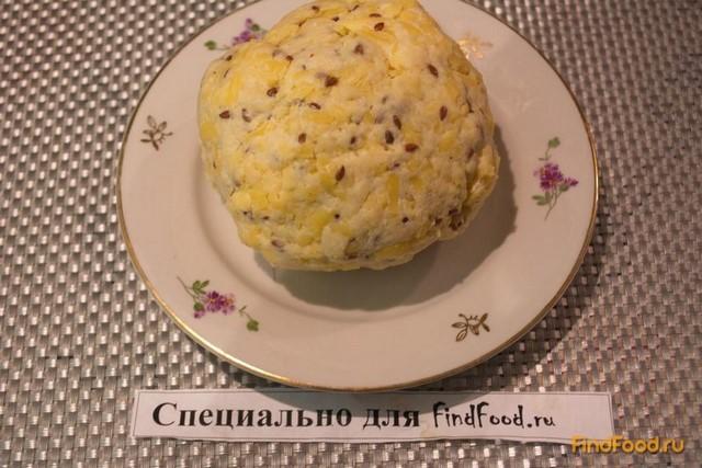 Крекер сырный с семенами льна рецепт с фото 4-го шага