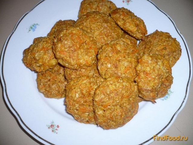 Рецепт Постное морковное печенье рецепт с фото