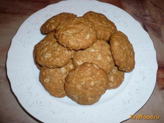 Рецепт Постное рассыпчатое печенье с овсяными хлопьями рецепт с фото