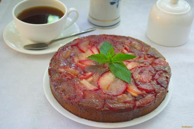 Рецепт Шоколадный манник с карамельными яблоками рецепт с фото