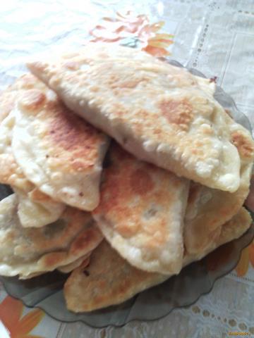 Рецепт Чебуреки с фаршем и зеленым луком рецепт с фото
