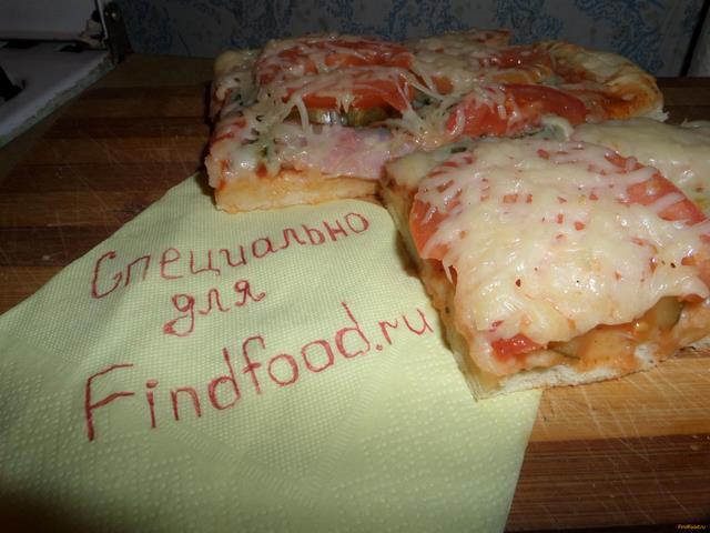 Рецепт Пицца с беконом и маринованными огурчиками рецепт с фото