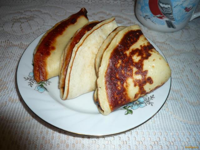 Рецепт Кефирные блинчики с медом рецепт с фото