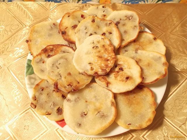 Рецепт Манные оладьи с изюмом рецепт с фото