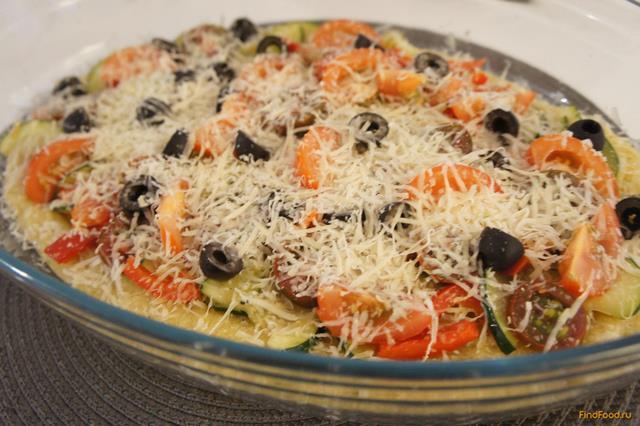 Рецепт Овощная Пицца на поленте рецепт с фото