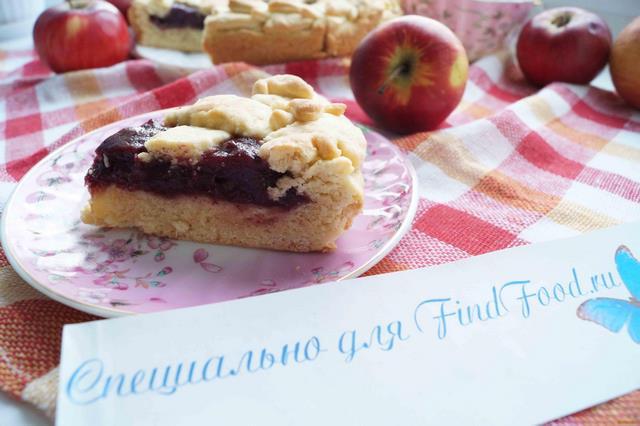 Рецепт Открытый пирог с черноплодной рябиной рецепт с фото