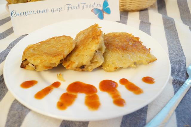Рецепт Картофельные драники с шампиньонами рецепт с фото