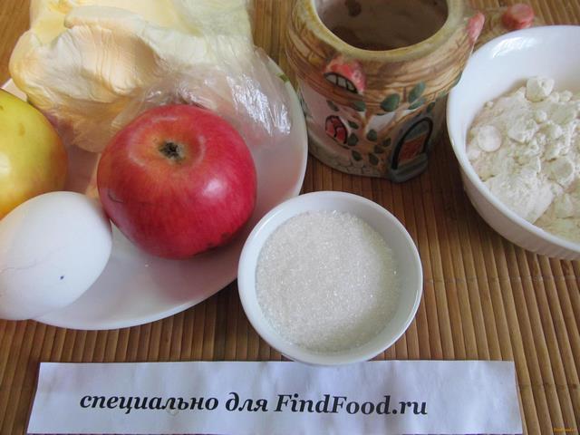 Яблочный пай рецепт с фото 1-го шага