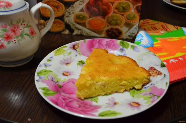 Рецепт Яблочный пирог со сметаной и коньяком рецепт с фото