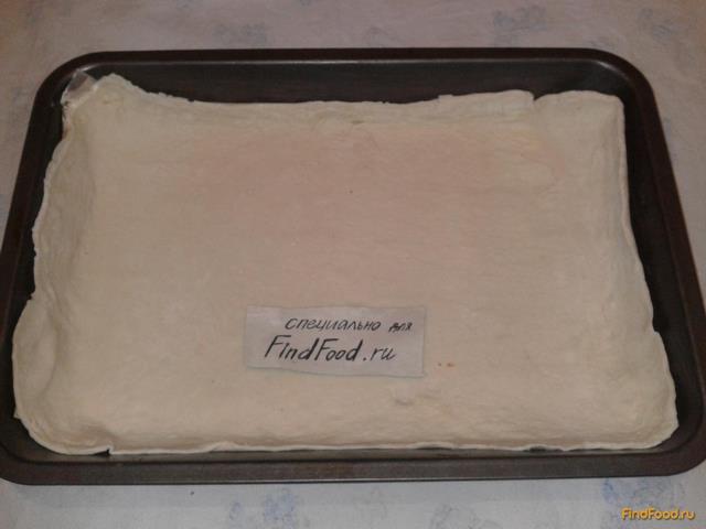 Пирог с фаршем из слоёного теста рецепт с фото 7-го шага