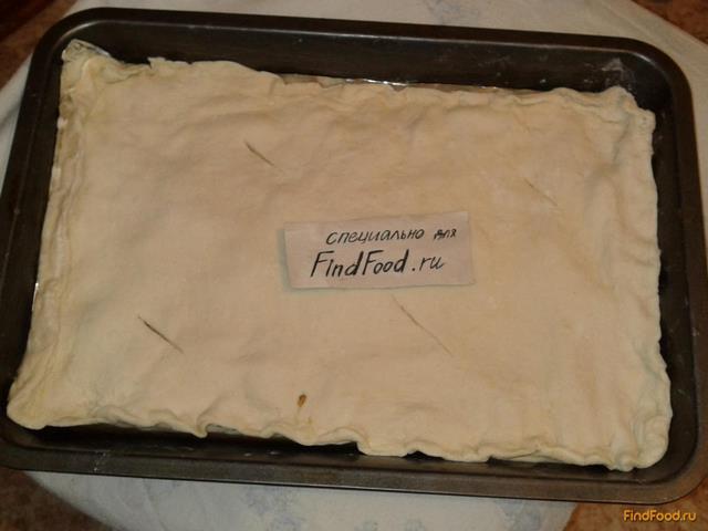 Пирог с фаршем из слоёного теста рецепт с фото 9-го шага