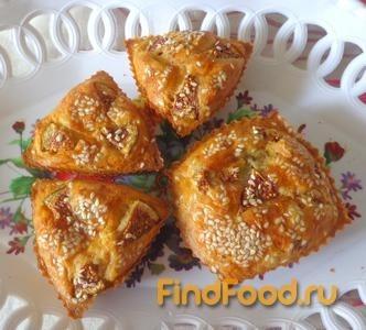 Рецепт Кексы из творожного теста с печенью рецепт с фото