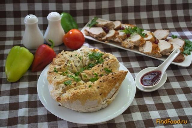 Рецепт Запеченный лаваш с горошком и овощами рецепт с фото