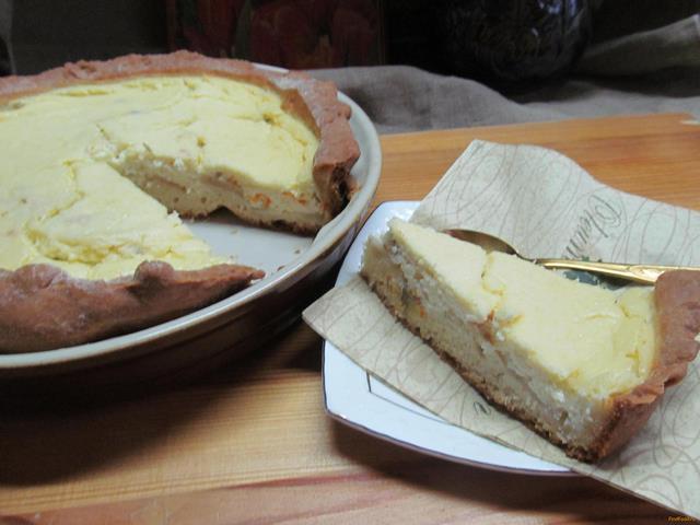 Рецепт Творожный пирог с яблоком и календулой рецепт с фото