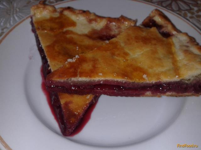 Рецепт Вишнёвый пирог из песочного теста рецепт с фото