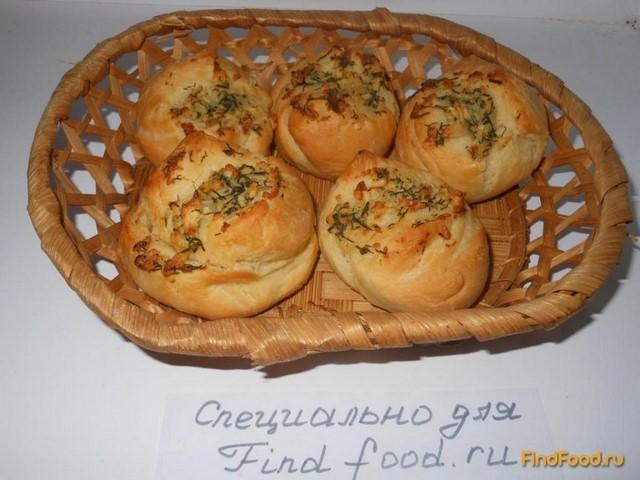 Рецепт Булочки с чесноком рецепт с фото