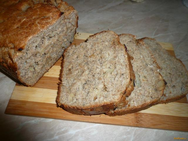 Рецепт Домашний хлебушек с луком рецепт с фото