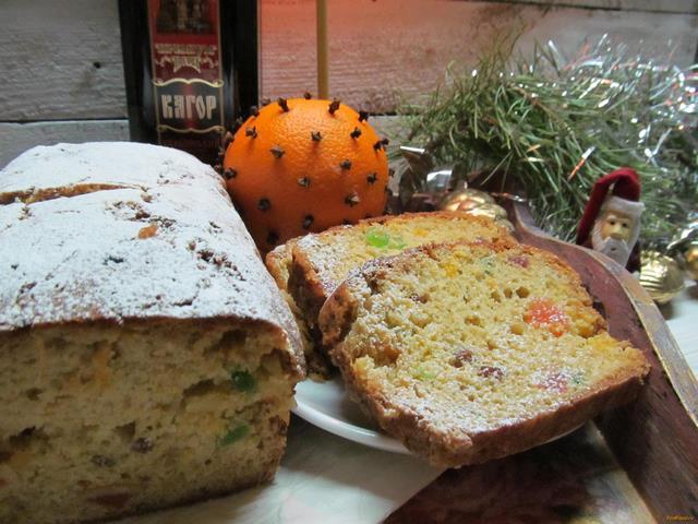 Рецепт Рождественский кекс с мандарином рецепт с фото