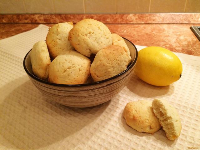 Рецепт Мягкое лимонное печенье рецепт с фото