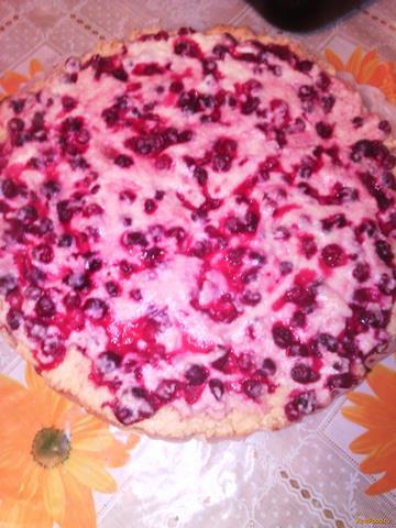 Рецепт Пирог с клюквой и творогом рецепт с фото