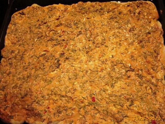 Домашняя пицца с колбасой рецепт с фото 14-го шага