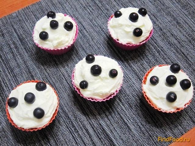 Рецепт Ванильные кексы с кремом рецепт с фото