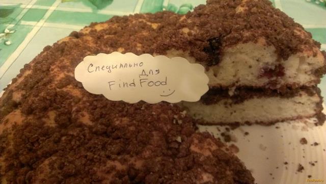 Рецепт Кекс со смородиной и шоколадным штрейзелем рецепт с фото