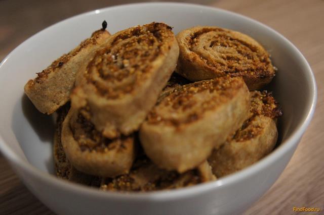 Рецепт Печенье с инжиром и медом рецепт с фото