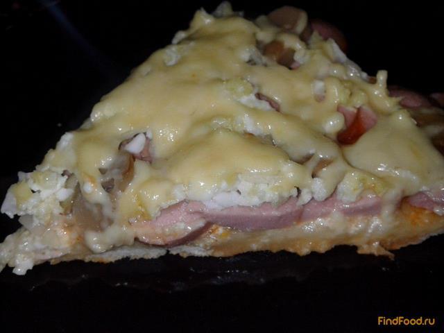 Рецепт Пицца на готовой основе рецепт с фото