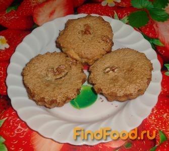 Рецепт Кексы с ореховой начинкой рецепт с фото