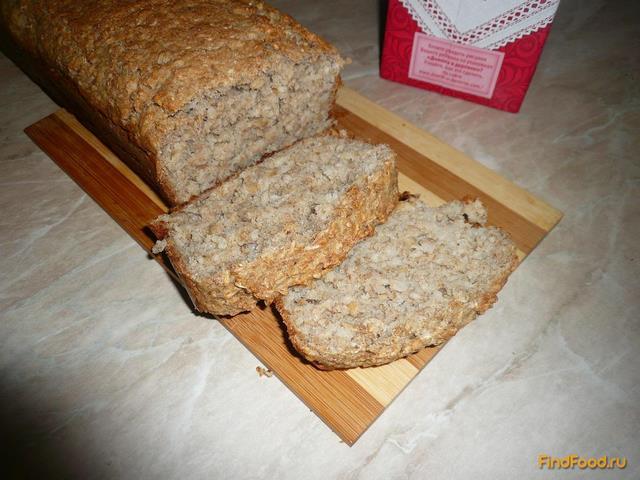 Рецепт Домашний хлеб с гречкой и овсяными хлопьями рецепт с фото