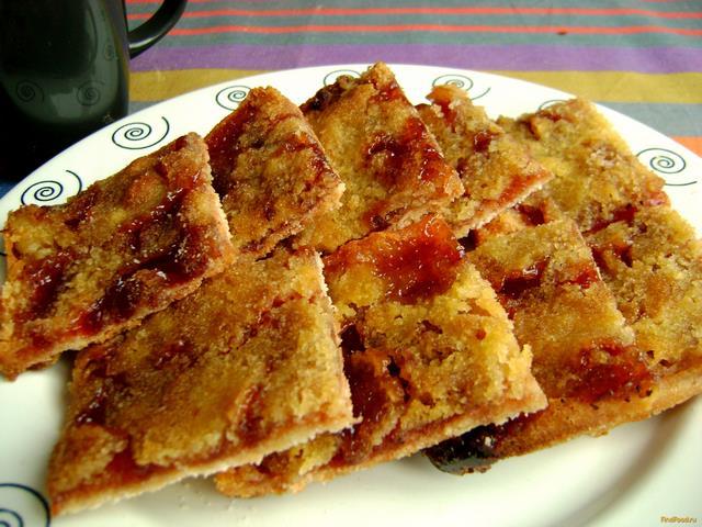 Рецепт Быстрый ягодный пирог на манке рецепт с фото