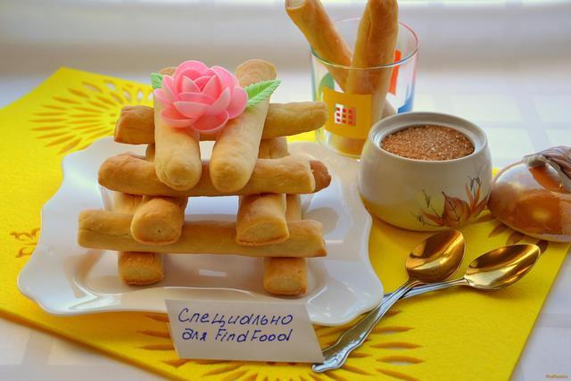 Рецепт Творожное печенье Соленые палочки рецепт с фото