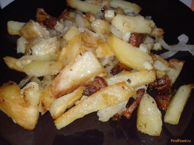Рецепт Жареная картошка с салом рецепт с фото