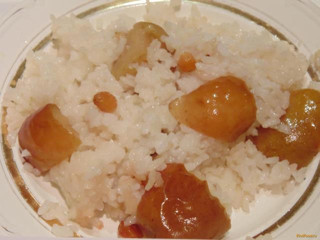 Рецепт Каша рисовая с яблоками и изюмом рецепт с фото