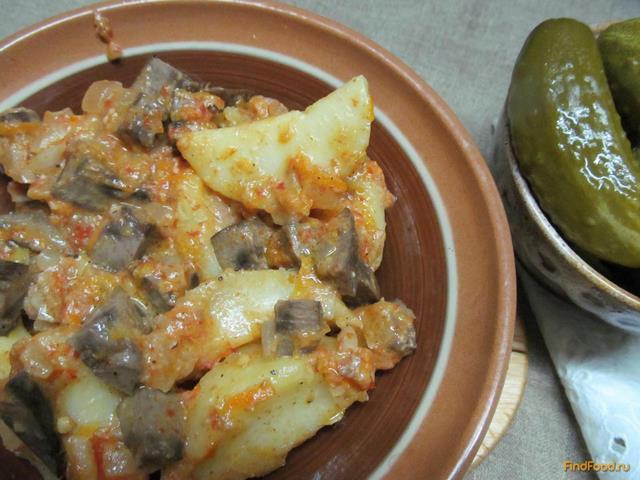 Рецепт Свиные почки в сметане с картофелем рецепт с фото