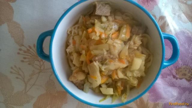 Рецепт Домашняя лапша с подливой рецепт с фото