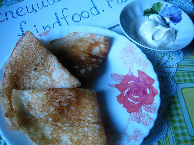 Рецепт Блины молочные рецепт с фото